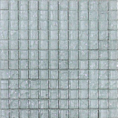 Maxwhite ASBH40 Mozaika skleněná bílá s efektem popraskaného skla 29,7x29,7cm sklo