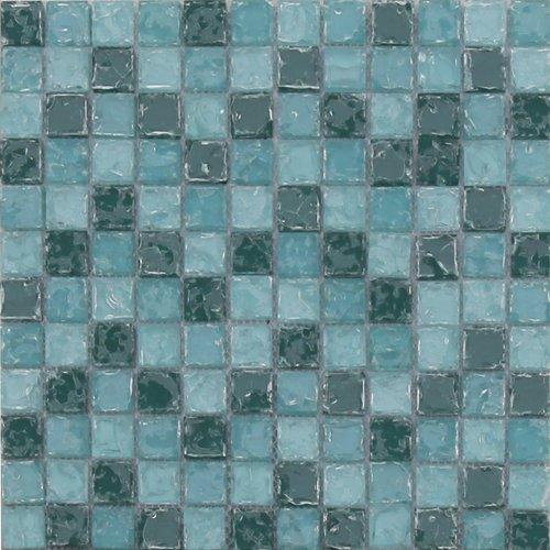 Maxwhite ASBH233 Mozaika skleněná zelená s efektem popraskaného skla 29,7x29,7cm sklo