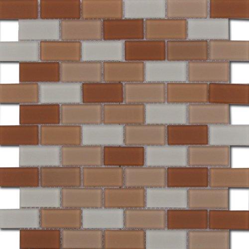 Maxwhite ASHS2-4 Mozaika skleněná hnědá světle hnědá krémová 30x30cm sklo