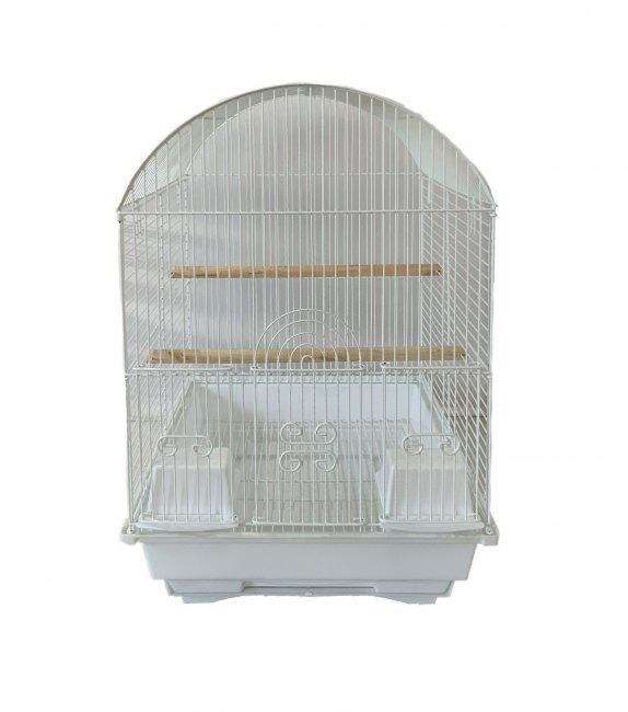 Max 550bí Klec bílá pro ptáky na papoušky 500 x 340 x 385 mm