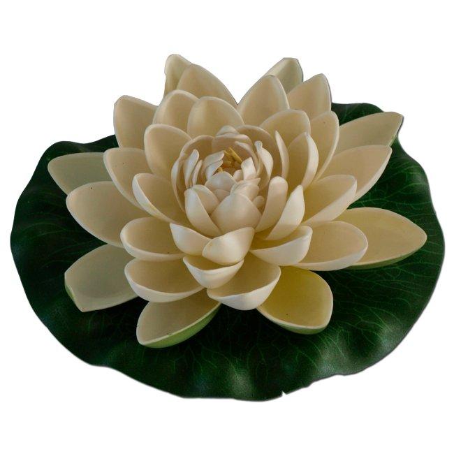 Max Plastový leknín velký bílý - Leknínový květ velký 18cm