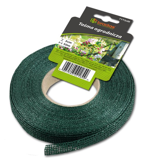 Vázací zahradní páska 3cm x 50m zelená