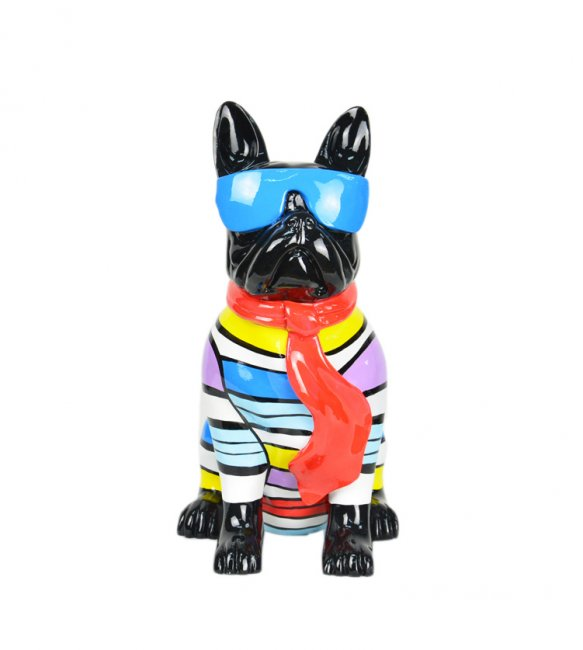 Maxwhite Socha Pes sedící černý 27 x 19 x 36cm