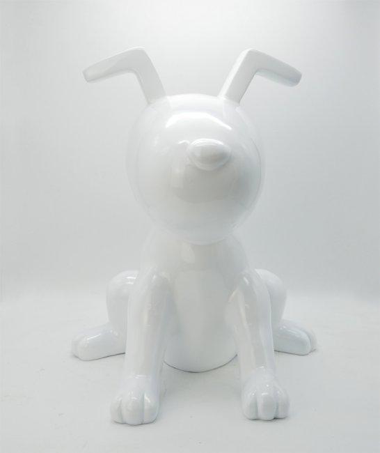 Maxwhite Socha Pes Ťap bílý 44 x 45 x 51cm