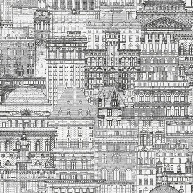 Max 73501 tapeta vliesová City šedo - bílá - slonová kost 0,53m x 9,5m