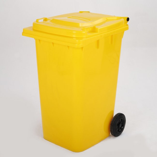 Max D120Y Popelnice 120L žlutá plastová s kolečky