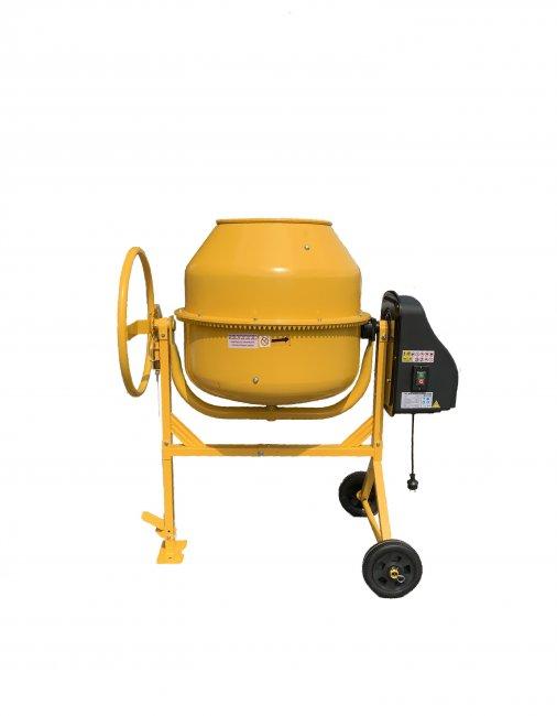 MAX Stavební míchačka 180 L s ocelovým ozubením žlutá
