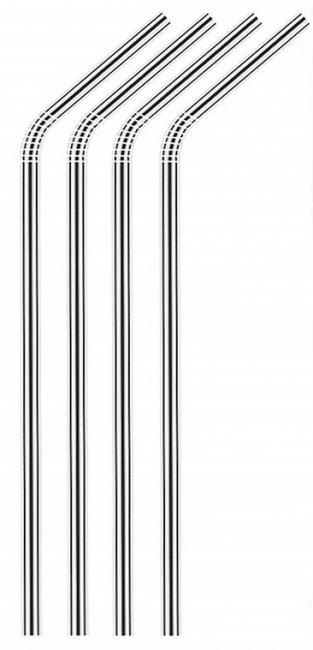 Maxpack Brčko nerezové 21,5cm x 6mm Stříbrné