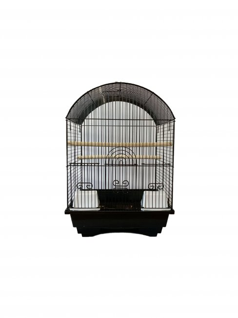 Max 550če Klec černá pro ptáky na papoušky 500 x 340 x 385 mm
