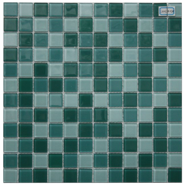Maxwhite L23 plus L24 plus L25 Mozaika skleněná zelená a zelená světlá 29,7x29,7cm sklo