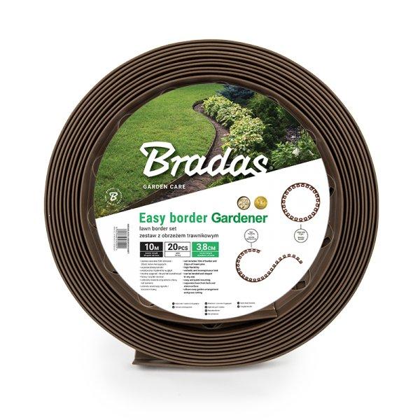 Bradas Plastový lemovací okraj trávníku OBEBR3810SET 3,8cm x 10m hnědá