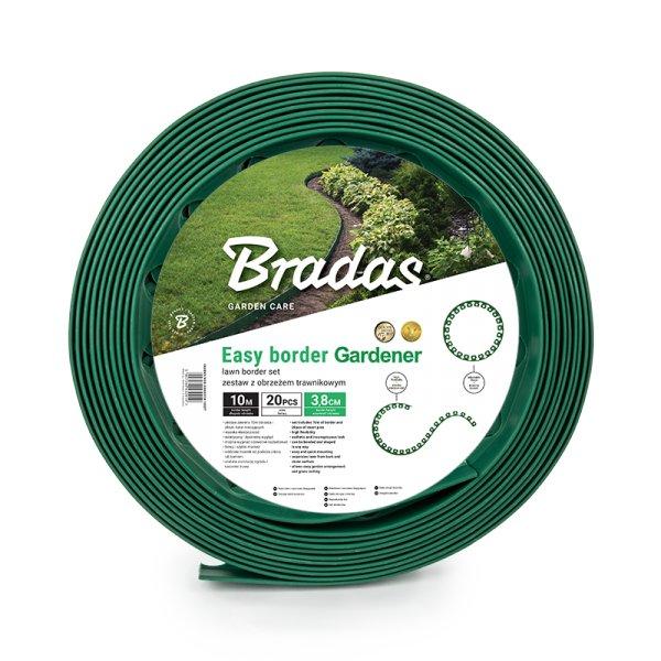 Bradas Plastový lemovací okraj trávníku OBEGR3810SET 3,8cm x 10m zelená