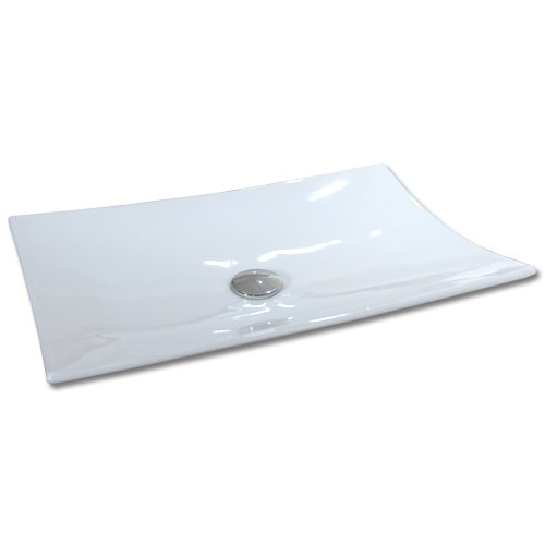 Maxwhite 8191 MILANO Umyvadlo keramické obdelníkové na desku 59,5x39,5x10cm