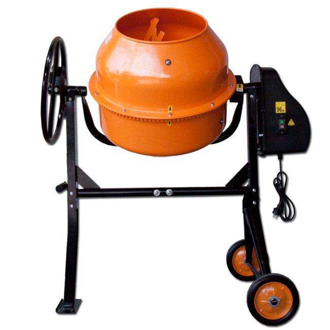 Max Stavební míchačka 125L s ocelovým ozubením oranžová