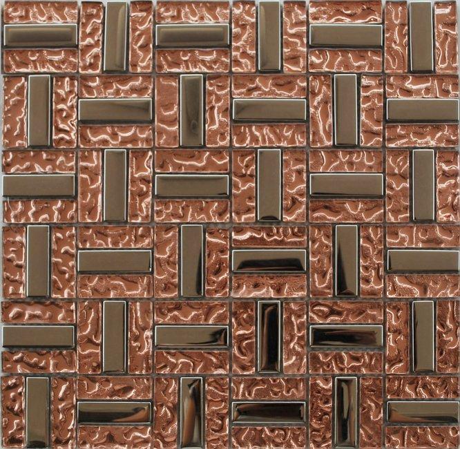 Maxwhite JSM-DD015 Mozaika skleněná růžová chrom 29,7x29,7cm sklo kov metal