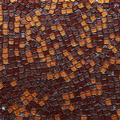 Maxwhite JSM-ZYS002 Mozaika skleněná hnědá oranžová perleť 29,7x29,7cm sklo