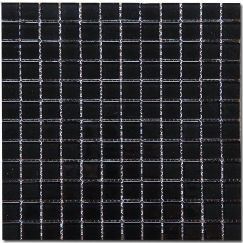 Maxwhite H36 Mozaika skleněná černá 29,7x29,7cm sklo