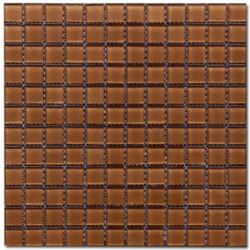 Maxwhite H26 Mozaika skleněná hnědá 29,7x29,7cm sklo