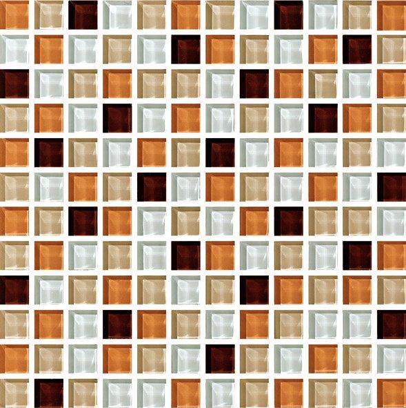 Maxwhite ASHS240 Mozaika skleněná hnědá bílá 29,7x29,7cm sklo
