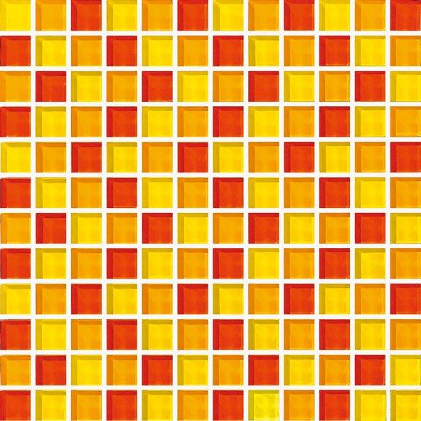Maxwhite ASHS205 Mozaika skleněná žlutá červená oranžová 29,7x29,7cm sklo