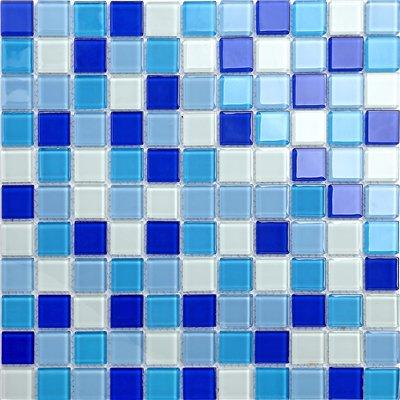Maxwhite CH4023PM Mozaika skleněná bílá modrá 30x30cm sklo