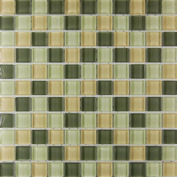Maxwhite ASHS001 Mozaika skleněná hnědá - zelená 29,7x29,7cm sklo
