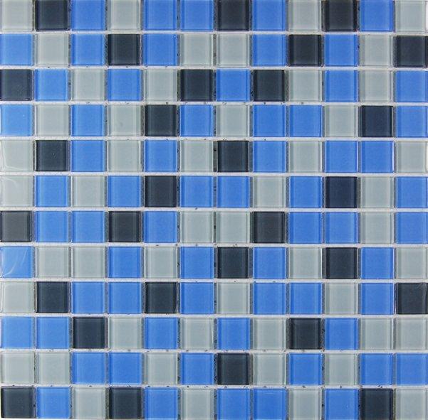 Maxwhite ASHS036 Mozaika skleněná modrá - šedá 29,7x29,7cm sklo