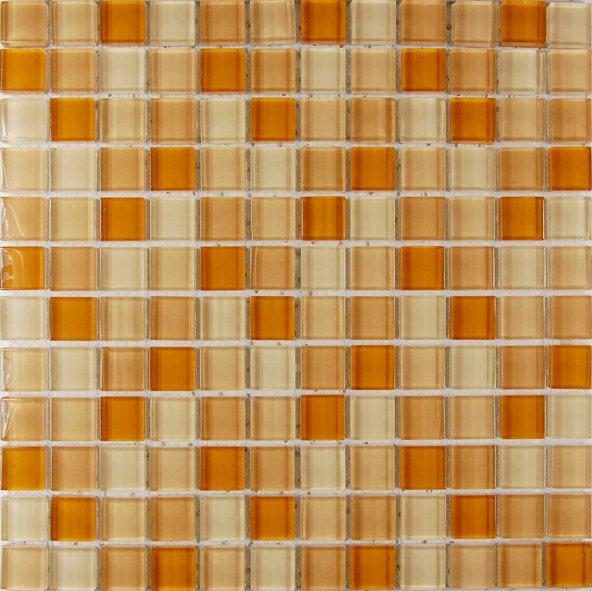 Maxwhite ASHS213 Mozaika skleněná žlutá mix 29,7x29,7 sklo