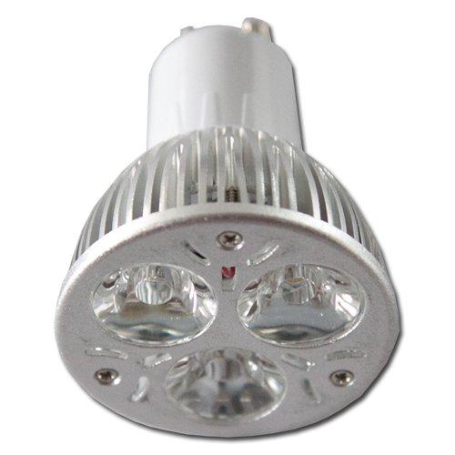 LED žárovka GU10 3xSMD 3x1W 4000-4500K čistá bílá  - pure white