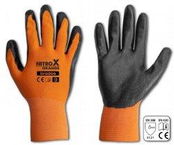 Rukavice pracovní Nitrox polyester nitryl vel.9