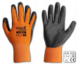 Rukavice pracovní Nitrox polyester nitryl vel.8