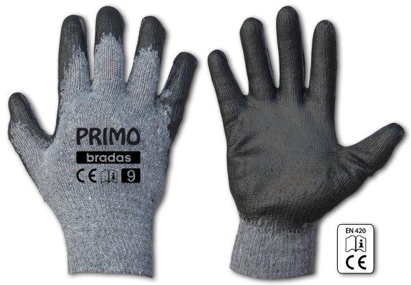 Rukavice pracovní Primo latex vel.9