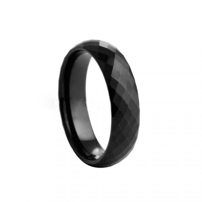 Prsten keramický - velikost 7 - černý HMCCRB017