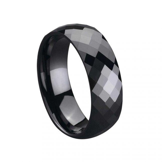 Prsten keramický - velikost 8 - černý HMCCRB018