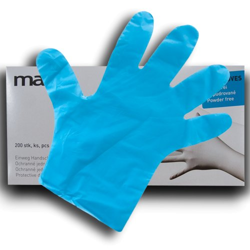 Maxpack 18064 Rukavice TPE modré jednorázové velikost S (200ks)