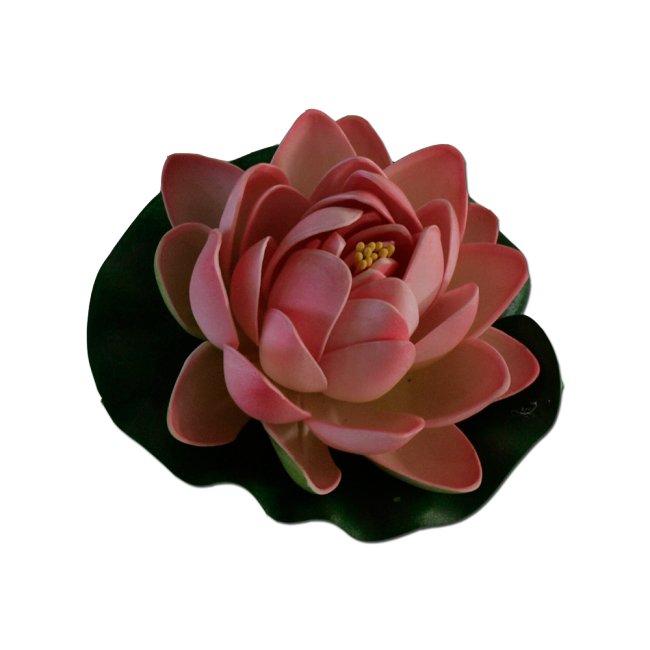 Max Plastový leknín malý růžový 10cm