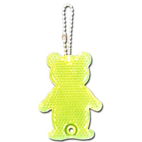 Reflexní přívěsek bezpečnostní Medvěd žlutý
