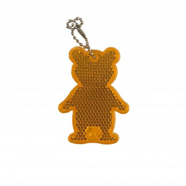 Reflexní přívěsek bezpečnostní Medvěd oranžový