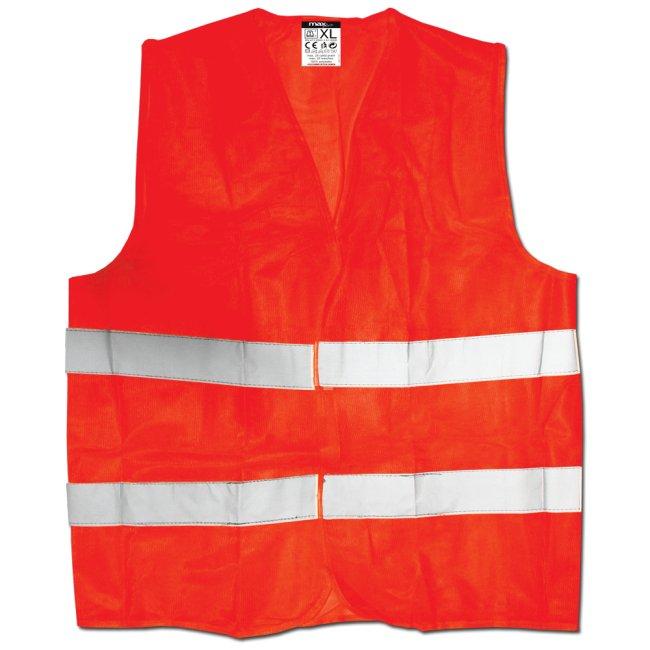 Výstražná reflexní vesta oranžová velikost XL 120g